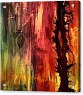 October Abstract Acrylic Print by Patricia Motley