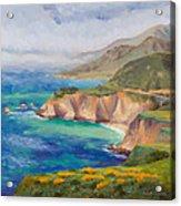 Ode To Big Sur Acrylic Print by Karin  Leonard