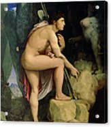 Oedipus And The Sphinx Acrylic Print by Ingres