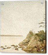 Offshore Rocks Oregon Coast Acrylic Print by Carol Leigh