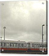 Ohare Airport Peoplemover Acrylic Print by Deborah Smolinske