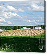 Ohio Amish Farm Acrylic Print by Lila Fisher-Wenzel