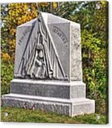 Ohio At Gettysburg - 29th Ohio Volunteer Infantry Autumn Mid-afternoon Culp's Hill Acrylic Print by Michael Mazaika