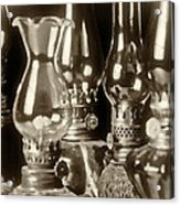 Oil Lamps Acrylic Print by Patrick M Lynch