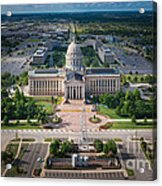 Oklahoma City State Capitol Building A Acrylic Print by Cooper Ross