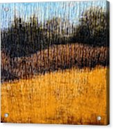 Oklahoma Prairie Landscape Acrylic Print by Ann Powell