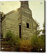 Old Abandoned Country  School Acrylic Print by Ann Powell