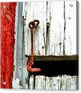 Old Barn Door Hook Acrylic Print by Julie Dant