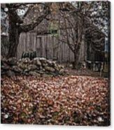 Old Barn In Autumn Acrylic Print by Edward Fielding