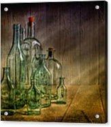 Old Bottles Acrylic Print by Veikko Suikkanen