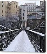 Old Bridge Of Constantine Acrylic Print by Boultifat Abdelhak badou