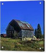 Old Broken Down Barn In Ohio Acrylic Print by Dan Sproul