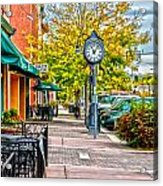 Old Clock Acrylic Print by Baywest Imaging