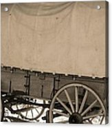 Old Covered Wagon Out West Acrylic Print by Dan Sproul