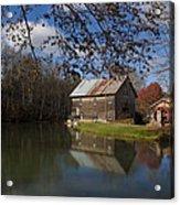 Old Creek Mill Acrylic Print by Regina  Williams