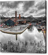 Old Dock Acrylic Print by Adrian Evans