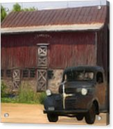 Old Dodge Truck Acrylic Print by Jack Zulli