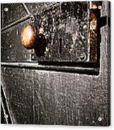 Old Door Lock Acrylic Print by Olivier Le Queinec