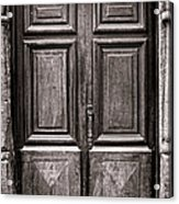 Old Door Acrylic Print by Olivier Le Queinec