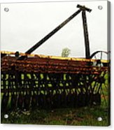 Old Farm Equipment Acrylic Print by Jeff Swan