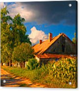 Old Farm On The Country Side Acrylic Print by Sasa Prudkov