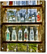 Old Fashioned Milk Bottles Acrylic Print by Susan Candelario
