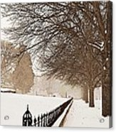 Old Fashioned Winter Acrylic Print by Chris Berry