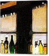 Old Genoa Bar Acrylic Print by Ron Regalado