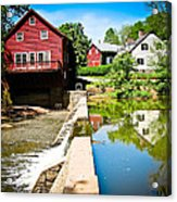 Old Grist Mill  Acrylic Print by Colleen Kammerer