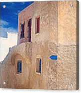 Old House In Oia  Acrylic Print by Aiolos Greek Collections