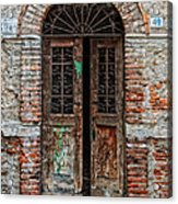 Old Italian Doorway Acrylic Print by Mountain Dreams