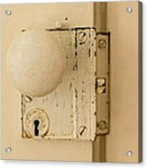 Old Lock Acrylic Print by Photographic Arts And Design Studio