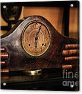 Old Mantelpiece Clock Acrylic Print by Kaye Menner