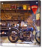 Old Motorcycle Shop 2 Acrylic Print by Mike McGlothlen