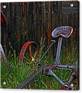 Old Mower Acrylic Print by Mike Flynn