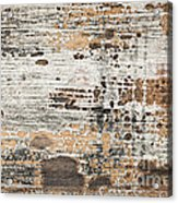 Old Painted Wood Abstract No.1 Acrylic Print by Elena Elisseeva