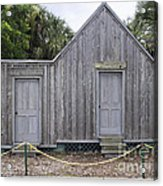 Old Post Office In Melbourne Beach Acrylic Print by Allan  Hughes