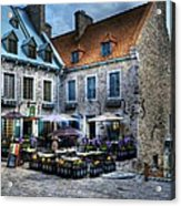 Old Quebec City Acrylic Print by Mel Steinhauer