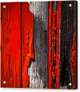 Old Red Barn One Acrylic Print by Bob Orsillo