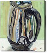 Old Reliable Stainless Steel Coffee Perker Acrylic Print by Jennie Traill Schaeffer