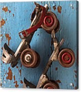 Old Roller Skates Acrylic Print by Garry Gay