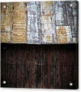 Old Rusty Tin Roof Barn Acrylic Print by Edward Fielding