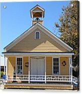 Old Sacramento California Schoolhouse 5d25544 Acrylic Print by Wingsdomain Art and Photography