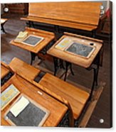 Old Sacramento California Schoolhouse Classroom 5d25778 Acrylic Print by Wingsdomain Art and Photography