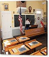Old Sacramento California Schoolhouse Classroom 5d25780 Acrylic Print by Wingsdomain Art and Photography