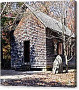 Old Schoolhouse Building Acrylic Print by Susan Leggett