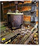 Old Sorghum Press Acrylic Print by Debra and Dave Vanderlaan