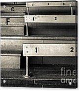 Old Stadium Bleachers Acrylic Print by Diane Diederich