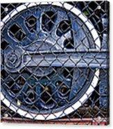 Old Steam Engine -train Wheels Acrylic Print by Liane Wright