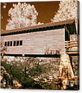 Old Time Covered Bridge Acrylic Print by Paul W Faust -  Impressions of Light